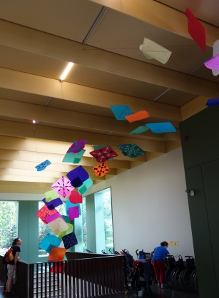 Handmade kites displayed at the V&A Museum of Childhood