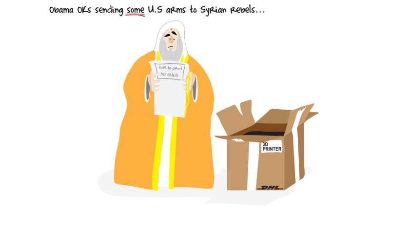 Khartoon: A satirical take on power by Khalid Albaih. Source: http://www.bbc.com/news/magazine-24142913